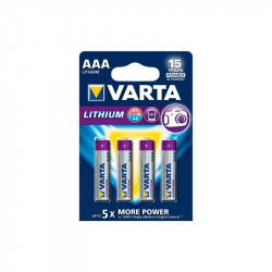 Pack of 4 R03 AAA Varta Lithium battery