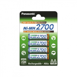 Pack of 4 2700 mAh Panasonic NiMH battery