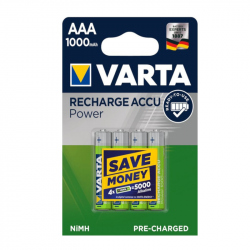 Pack of 4 R03 1000 mAh Varta Pro R2U battery
