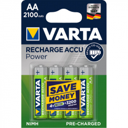 Pack of 4 R6 2100 mAh Varta Ready2Use battery