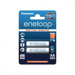 Pack of 2 R6 Panasonic Eneloop BK-3MCCE/2BE battery