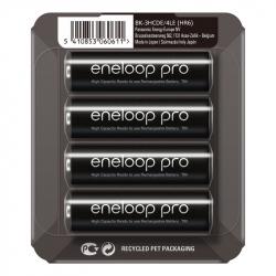 Pack of 4 R6 Panasonic Eneloop BK-3HCDE/4LE