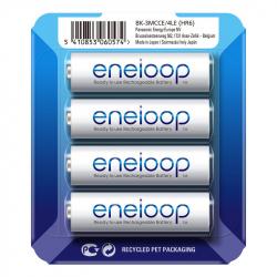 Pack of 4 R6 Panasonic Eneloop BK-3MCCE/4LE