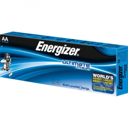 Pack of 10 R6 Energizer Ultimate AA L91 Lithium battery