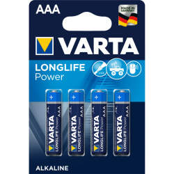 Pack of 4 LR03 Varta Longlife Power
