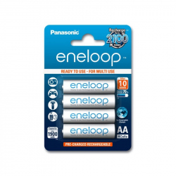 Pack of 4 R6 Panasonic Eneloop BK-3MCCE/4BE battery