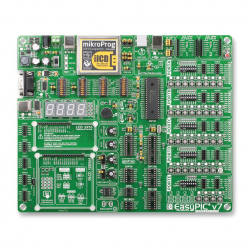 Development Kit, EasyPIC V7, Supports 370+ PIC MCU's in DIP Packaging, mikroProG Programmer
