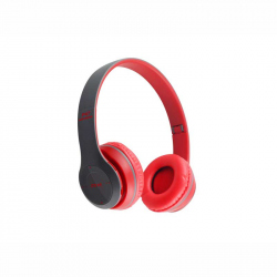 Red Headphones Radio/MP3/TF/mic compatibile cu Bluetooth P47