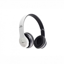 White Headphones Radio/MP3/TF/mic compatibile cu Bluetooth P47