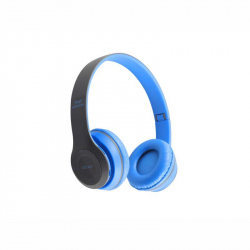 Blue Headphones Radio/MP3/TF/mic compatibile cu Bluetooth P47