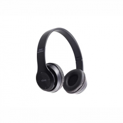 Black Headphones Radio/MP3/TF/mic compatibile cu Bluetooth P47