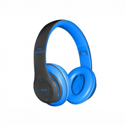 Blue Headphones Radio/MP3/TF/mic compatibile cu Bluetooth P15