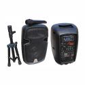 "2108DA-R Active ABS Enclosure for 8"" Speaker with USB/SD/FM/BT/ACCU"