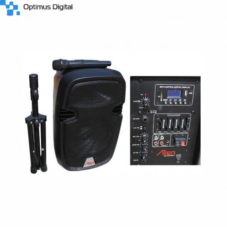 2110DA-R Active ABS Enclosure for 10'' Speaker USB/SD/FM/BT/ACCU