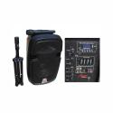 "2110DA-R Active ABS Enclosure for 10"" Speaker USB/SD/FM/BT/ACCU"