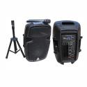 "2110AMS Active ABS Enclosure for 10"" Speaker USB/SD/FM/BT"