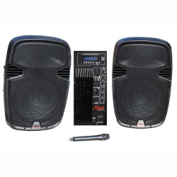 Set of 2 ABS Speakers 15'' 2115 USB/SD/FM/BT