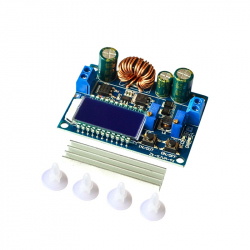 Buck-Boost Power Supply Module with Display (IN: 5.5 - 30 V, OUT: 0.5 - 30 V, 3 A)