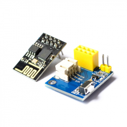 Adapter Board for Controlling WS2812 RGB LEDs with ESP-01 and ESP-01S Modules and Li-Ion Battery Power Input