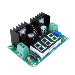 XL4016 Adjustable Step-down DC-DC Module, 8 A (Input: 4 - 40 V, Output: 1.25 - 36 V)