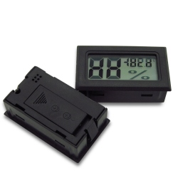 Black Digital Thermometer with Hygrometer