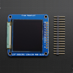"OLED Breakout Board - 16-bit Color 1.5"" w/ microSD holder"