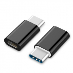 USB 2.0 Type-C adapter (CM/MicroUSB-F), black