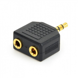 3.5 mm audio splitter, black