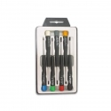 7 Pcs Velleman Screwdrivers Right and Cross Caps (3x40 screwdriver is faulty)
