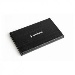 USB 3.0 2.5'' enclosure, brushed aluminum, black