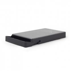USB 3.1 2.5'' enclosure, Type-C, black, metal cladded