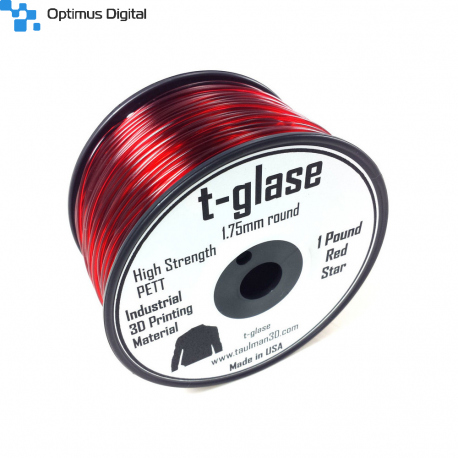 Taulman t-glase PETT Red 1.75mm filament