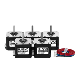 Set of 5 17HS8401S Stepper Motors (1.7 A, 0.59 Nm)