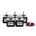 Set of 5 17HS8401S Stepper Motors (1.7 A, 0.59 Nm)
