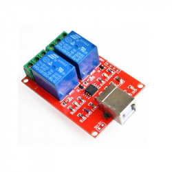 Dual Relay Module with USB Interface