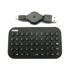 Bluetooth mini-keyboard, 49 keys, black color, US layout