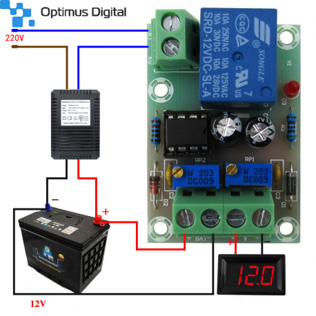 M601 Charging Controller Module for 12 V Batteries with Overcharge Protection