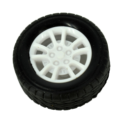 30 mm Wheel with Rubber for 2 mm shaft