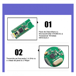 Development Board with STC89C52 Microcontroller and NRF24L01+ Wireless Transceiver