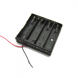 4x18650 Battery Holder, Parallel Connection