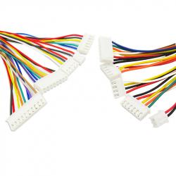 10p XH2.54 Colored Single Head Cable (20 cm)