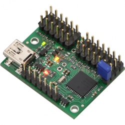 Controller Servo pe USB cu 12 Canale Mini Maestro (asamblat)