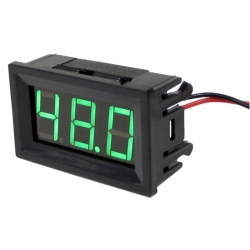 Green Panel Voltmeter (4.5 - 120 V)