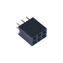 2 x 3p 2.54 mm Female Pin Header