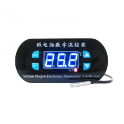W1308 Temperature Controller Module with Blue Display (Thermostat), 12 V Power Supply
