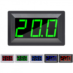 Green Thermometer with White Case (-55 ~ 110 °C, 4.5 - 15 V)