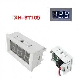 Adjustable Voltage Alarm with Buzzer (White Case, Red Display, 4.5 - 50 V)