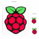 10 Small Raspberry Pi Stickers Set (12mm long by 9mm wide)