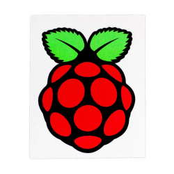 6 Raspberry Pi Stickers Set (58mm long by 44mm wide)