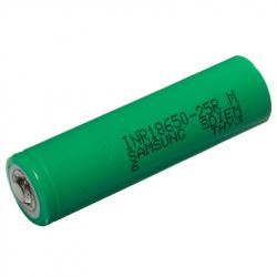 Samsung INR18650-25R 2500mAh - 20A button top
